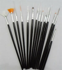 15Pcs/set Design DIY Acrylic Painting Tool UV Gel Pen Polish Nail Art Brush Kit