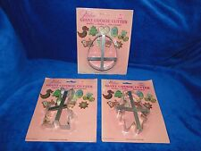 NEW WILTON VINTAGE RARE GIANT EGG, BUNNY & GIRL METAL  COOKIE CUTTERS
