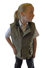 Campbell Cooper New Kids Classic British Country Wear Tweed Waistcoat Green