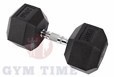 Hex Dumbbells Iron Rubber Encased Coated Hexagonal Free Weights Sets Dumbell