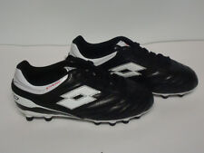 Lotto Girl Boy Unisex Youth Soccer Cleats Shoes Black White  Size 3 3.5 4.5 7