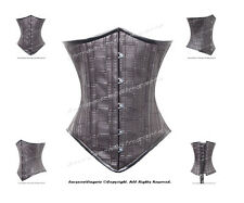 Full SteelBoned Underbust Faux Leather Heavy Lacing Shaper Corset #H8033(LR22-5)