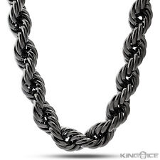 Run DMC Inspired Blackout Fat Rope Hip Hop Dookie Chain