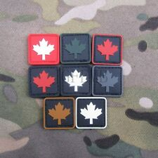 Canada Red Maple flag 3D PVC Velcro Patch Soft shell Small