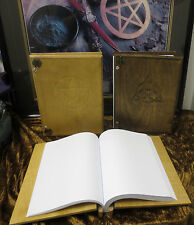 Handcrafted Wooden Book of Shadows Wicca Blank Triquetra Charmed Symbol Pentacle