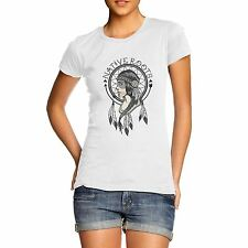 Womens Graphic Print Native Roots American Indian T-Shirt