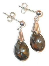 Crystal BRONZE SHADE Earrings Sterling Silver 12mm Mini-Pear Swarovski Elements