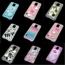 For Samsung Galaxy S5 SV I9600 Bling Diamond Crystal Rhinestone Hard Case Cover