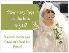 20 Fairytale FROG PRINCE Kisses Miss Piggy  SHOWER INVITATIONS Post/Flat Cards