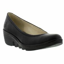 Fly London Wedge Soft Leather Pump Womens Casual / Work Shoes Sizes UK 4-8