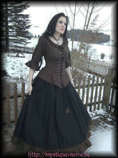 Medieval Dress Blouse + Skirt black-brown Baroque SCA Steampunk Reenactment