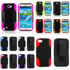 REIKO Hybrid Kickstand Holster Protector CLIP Case for Apple iPhone SE 4/4S 5/5S