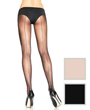 PLUS SIZE Sexy Back Seam Sheer Tights Pantyhose Leggings Tights Black Nude