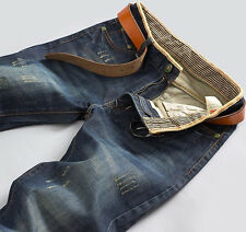 2014 New Fashion Men Straight Slim Fit Trousers Casual Jean Pants