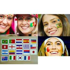 5×Nation Flag Pattern Stickers Suit Face Hand Body Stickers