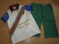 JOULES Cropped Trousers Shorts& Badminton Polo Shirt  Age 4 RRP£52.90 FreeUKP&P
