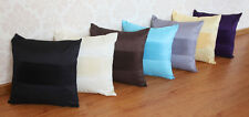 """LUXURY FAUX SILK PLEATED CUSHION COVERS 18"""" x 18"""" (45x 45cm) - 7 Colours *NEW*"""