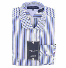 Tommy Hilfiger Men Long Sleeve Button Down Stripe Dress Shirt - Free $0 Shipping