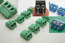 5~100Pcs Plug-in Screw Terminal Block Connector 5.08MM Pitch Panel PCB Mount