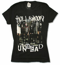 """HOLLYWOOD UNDEAD """"DRIPPING LOGO"""" BLACK BABY DOLL T-SHIRT NEW OFFICIAL JUNIORS"""
