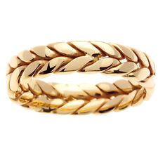 14K Yellow Gold Hand Braided Wedding Ring Band 6mm (WJRL02474)