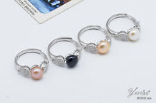 Wholesale Angel Wing 925 Sterling Silver Genuine Freshwater Cultured Pearl Ring