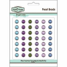 The Hobby House Pear/ Rhinestone Brads 8mm or.5.5mm
