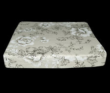 lf335t Black Off White Lily High Quality Cotton Canvas 3D Box Seat Cushion Cover