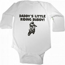 DADDY'S LITTLE RIDING BUDDY DIRTBIKE NEW BABY BODYSUIT SIZE AND COLOR CHOICE