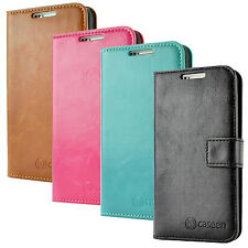 caseen Samsung Galaxy S4 i9500 Luxury Leather Card Wallet Flip Stand Case Cover