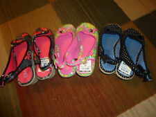 Sugar Kids Floral Print Girls Youth Wedge Sandals Shoes Black Pink Green New