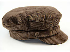 NEW RETRO MOD INDIE CORD Corduroy BEATLE HAT / CAP John Lennon Newsboy 60s BROWN
