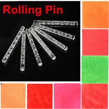 Transparent Embossing Rolling Pin Fondant Cake Sugar Craft Decoration Tools Mold