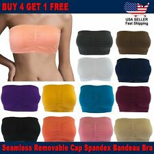 3 FOR $10 NEW Basic Sports Yoga Crop Straless Padded Bandeau Bra Tube Top