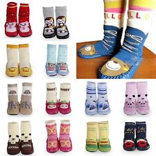 Baby Boy Girl Infant Toddler Warm Indoor Anti-slip Socks Shoes Boot Leather Sole