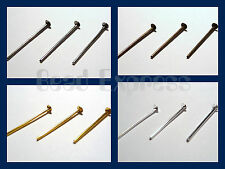 200 Pc 18mm Short Head Pins Findings - Choice of Gold Silver Bronze Black