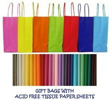 PARTY GIFT BAGS x 75 - WITH TISSUE PAPER - BIRTHDAY/WEDDINGS/CHRISTENINGS