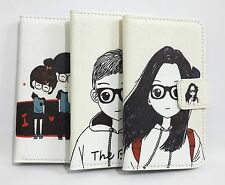 Cute Lovely Girl & Boy Card Wallet Pouch Leather Cover Case FOR Samsung Phones