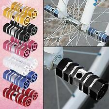 BMX Mountain Bike Bicycle Hexagonal Axle Pedal Alloy Foot Stunt Pegs Cycling