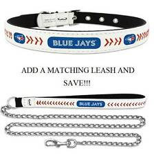 Toronto Blue Jays Leather Dog Collar Officially Licensed MLB Cat Pet Leash Lead