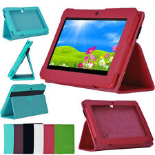 "New 7 inch Folio PU Leather Case Cover Stand For 7"" Q88 Google Android Tablet PC"
