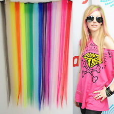 """24""""Long Solid Colored Colorful Clip On In Hair Extension Hight light 19 Colors"""