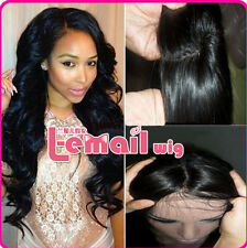 Custom Soft Indian Remy Human Hair Curly Loose Wave Full Lace/Lace Front Wigs