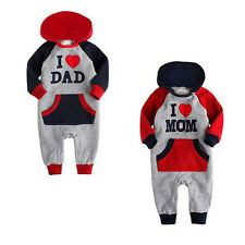 sino kids Infant Boys Girls Hoodie Jumpsuit Onepiece Outwear Clothes(3-24m)