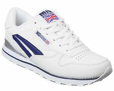 Mens Classic White Trainers Size 6 to 12 UK SPORTS LEISURE / WHITE & NAVY - 009