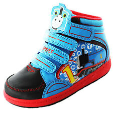 Boys Size 5 - 10 Blue THOMAS THE TANK ENGINE Velcro Hi Top Trainers DART