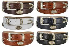 Golf Classic - Italian Calfskin Genuine Leather with Conchos Golf Belt, 1-1/8""