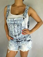 cutout JEANS DESTROYED RIPPED DISTRESSED WOMEN Denim Overall Romper Shorts