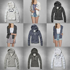 BNWT Abercrombie & Fitch by Hollister Womens Hoodie Sweater Jacket Top RRP £70