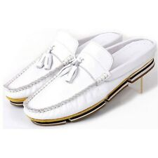 4 Colors US Size 5-11 Slip On Leather Casual Mens Driving Moccasin Sandals Shoes